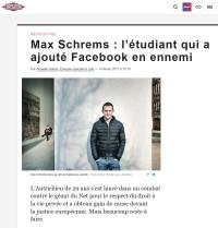 [Liberation] Max Schrems : l'étudiant qui a ajouté Facebook en ennemi